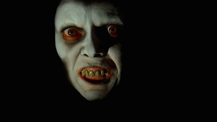 The demon Pazuzu - one of the few direct visual references to the original Exorcist included in Schrader's film.