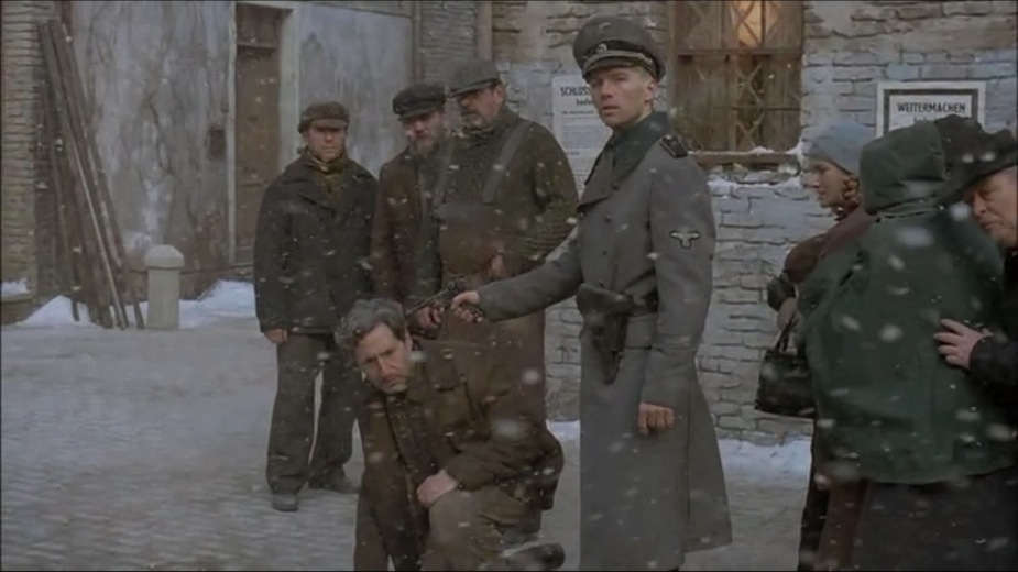 Nazi atrocities in World War II, as seen in Dominion: The Prequel to the Exorcist.